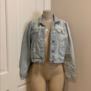 Light blue Jean jacket size 8 great condition